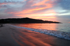 Coucher du soleil en Costa Rica Image stock