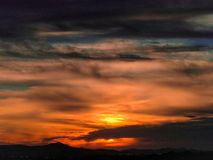 Coucher du soleil en Croatie Photographie stock