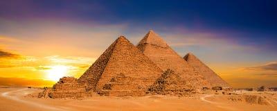 Coucher du soleil en Egypte Photographie stock libre de droits