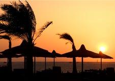 Coucher du soleil en Egypte photo libre de droits