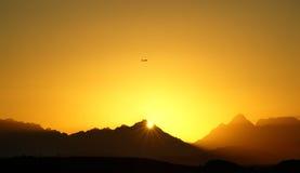 Coucher du soleil en Egypte Photos stock