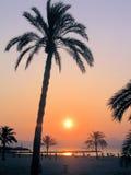 Coucher du soleil en EL arenal images stock