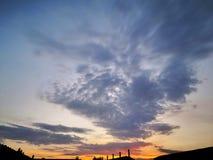 Coucher du soleil en Europe photographie stock libre de droits