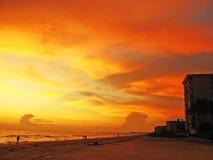 Coucher du soleil en Floride Image libre de droits