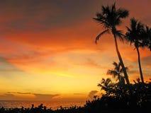 Coucher du soleil en Floride Photographie stock libre de droits