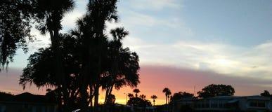 Coucher du soleil en Floride photo libre de droits