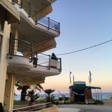 Coucher du soleil en Grèce Images stock