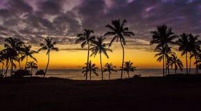 Coucher du soleil en Hawaï Images libres de droits