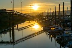 Coucher du soleil en Homer, Alaska Photo stock