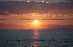 Coucher du soleil en Italie image libre de droits