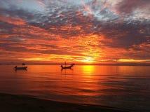 Coucher du soleil en Koh Tao images libres de droits