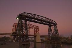Coucher du soleil en La Boca, Buenos Aires Photographie stock