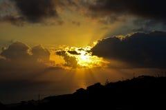 Coucher du soleil en la Madère Photographie stock
