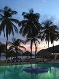 Coucher du soleil en le Curaçao image libre de droits