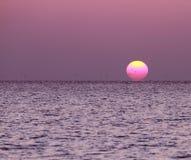 Coucher du soleil en Maldives image stock