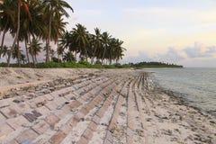 Coucher du soleil en Maldives Images libres de droits