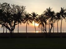 Coucher du soleil en mer Photos libres de droits