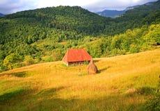 Coucher du soleil en montagnes d'Apuseni Images stock