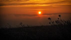 Coucher du soleil en nature images stock