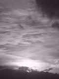 Coucher du soleil en noir et blanc Photographie stock