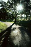 Coucher du soleil en parc Photographie stock libre de droits