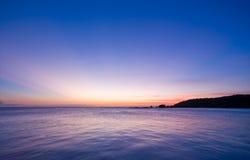 coucher du soleil en pastel de mer Image stock