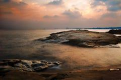 Coucher du soleil en pierre de tigre Images libres de droits