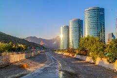 Coucher du soleil en piment de Santiago Image stock