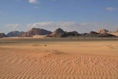 Coucher du soleil en rhum de Wadi Images libres de droits