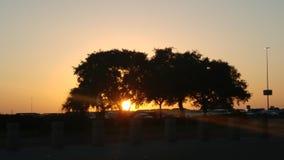 Coucher du soleil en San Antonio Texas Image stock
