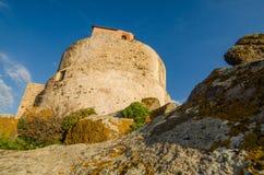 Coucher du soleil en San Giovanni di Sinis, Sardaigne Images libres de droits