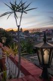 Coucher du soleil en Santa Clara, Cuba Image stock
