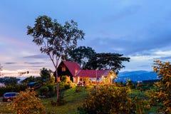 Coucher du soleil en Santa Elena Photo stock