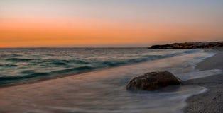 Coucher du soleil en Sardaigne Photos stock