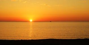 Coucher du soleil en Sicile Images stock