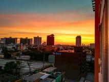 Coucher du soleil en Thaïlande photo libre de droits