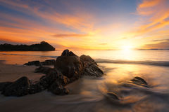 Coucher du soleil en Thaïlande Photographie stock