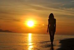 Coucher du soleil en Thaïlande Photo stock