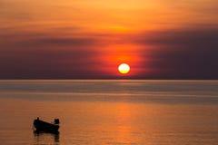 Coucher du soleil en Thaïlande Image stock