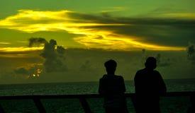 Coucher du soleil enchanteur Image libre de droits