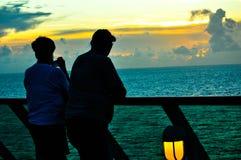 Coucher du soleil enchanteur Photos libres de droits