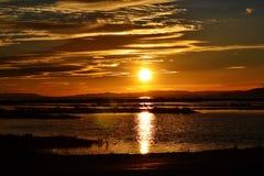 Coucher du soleil espagnol Photo libre de droits