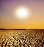 Coucher du soleil et le cordon criqué photographie stock libre de droits