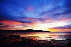 Coucher du soleil et lever de soleil Image libre de droits