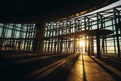 Coucher du soleil et ligne d'ombre d'ombre Photos libres de droits