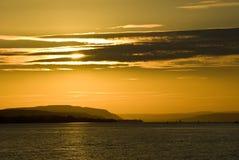 Coucher du soleil et nuages Photographie stock libre de droits