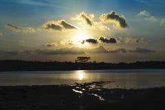 coucher du soleil et paysage Photographie stock