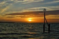 Coucher du soleil et paysage marin images libres de droits