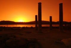 Coucher du soleil et ruines photos libres de droits
