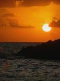 Coucher du soleil excessif Images stock